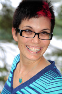 "Kristin ""Chuck"" Jones, a Camper at 'Camp' Camp, a week-long summer camp for GLBT adults"