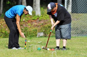 Croquet at 'Camp' Camp, an all-inclusive vacation for LGBT adults