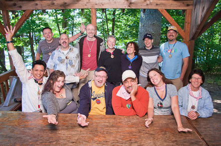 Have fun with new friends at Camp Camp, a GLBT summer camp for adults in Maine
