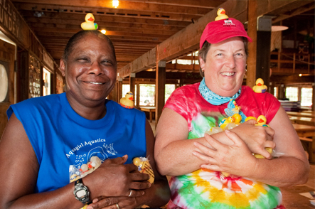 Waterfront Staff at 'Camp' Camp, America's premier outdoor vacation for gay and lesbian adults