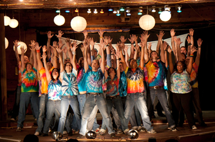 Broadway Dance class at Camp Camp, America's premier summer camp for GLBTQ adults