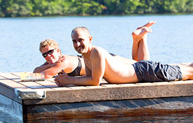 Sunning & Swimming, Nature Ambles and Silence & Reflection at Camp Camp, America's fun GLBTQ summer camp!