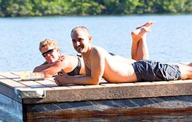 Sunning & Swimming, Nature Ambles and Silence & Reflection at Camp Camp, America's fun GLBTQ summer camp!