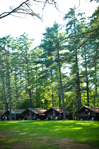 Camp cabins at 'Camp' Camp, the all inclusive GLBTQ vacation travel destination for gays, lesbians, bisexuals & transexuals