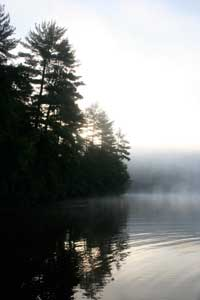 Early Morning at 'Camp' Camp, a summer camp experience for GLBT adults in Maine
