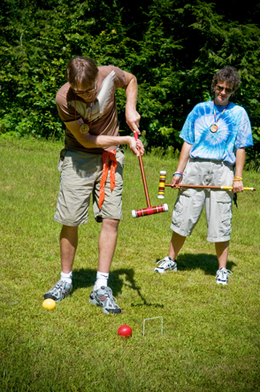 Croquet at Camp Camp, America's premier summer camp for gay and lesbian adults