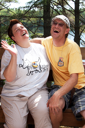 Laugh with gay friends at Camp Camp, a summer camp vacation in Maine for gay & lesbian adults