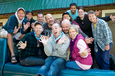 Rainbow Groups of GLBT friends at Camp Camp, America's premier outdoor vacation for GLBT adults