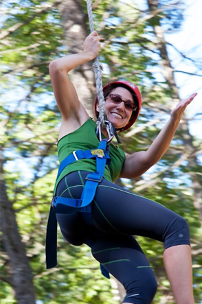 Adventure Course & Climbing Wall at Camp Camp, a summer camp experience for GLBTQ adults in southwestern Maine
