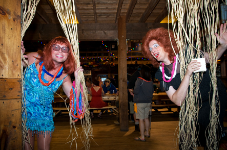 Drag Bingo at Camp Camp, America's most fun outdoor gay & lesbian vacation in gorgeous Maine