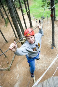 Ropes course at 'Camp' Camp – all inclusive vacation camp for active gay and lesbian singles & couples